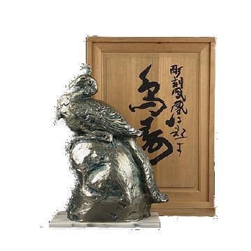 彫刻・ブロンズ像の外箱や付属品の保管